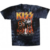 KISS T-Shirt - Hot as Hell Blue TIE-DYE