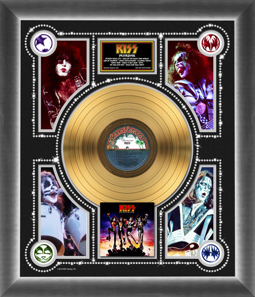 Kiss Gold Record Kiss Destroyer Photo Montage Kiss Museum