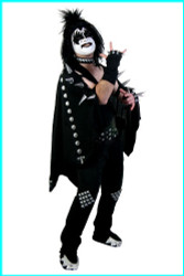 KISS Adult Costume - Gene SCREENPRINT