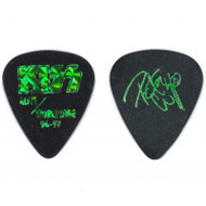 KISS Guitar Pick - Green prism on black, Peter