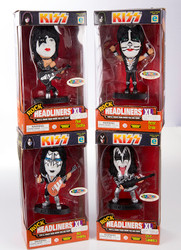 KISS Headliners Figures - Destroyer outfits, set of 4 (black base)