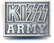 KISS Pin - KISS Army Silver