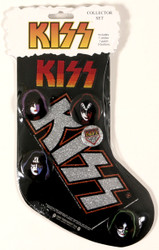 KISS Christmas Stocking w/buttons, sticker and patchs