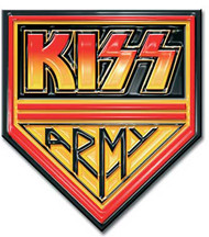 "KISS Pin - Army Color, (1.25"" wide)"