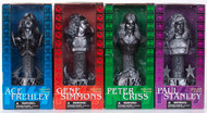 KISS Statuette Busts - SILVER VARIANT set of 4