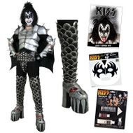 KISS Gene Demon COMPLETE DESTROYER Costume with Boots, Wig, Makeup