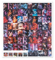 KISS Alive Trading Cards - Uncut Sheet