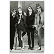 KISS Poster - Dressed to Kill B&W