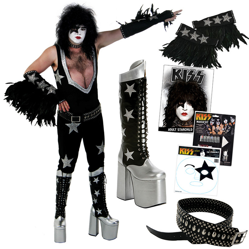 Kiss Demon Makeup: KISS Paul Starchild COMPLETE ALIVE Costume With Boots