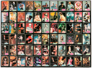 KISS Poster - Donruss Rock Stars Trading Card Uncut Sheet '78