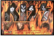 KISS Poster - Auction '00
