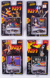KISS Johnny Lightning Cars - Stock Cars, Set of 4, (cards #4, 24, 39 and 43)