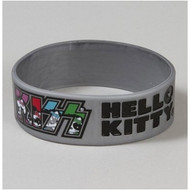 KISS Hello Kitty - Grey Rubber Logo Bracelet