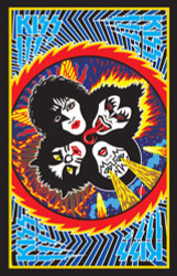 KISS Rock and Roll Over blacklight poster - new design for 2014