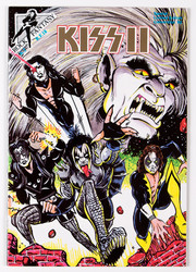 KISS Comic - Rock Fantasy KISS II, limited edition gold logo printing