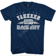 KISS T-Shirt - New York Yankees MLB Baseball - ROCK CITY LOGO