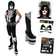 KISS Peter Catman COMPLETE DESTROYER Costume with Boots, Belt, Wig, Makeup