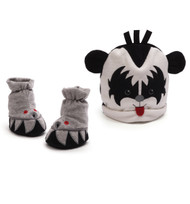 KISS Gund Baby Cap & Booties set - Demon