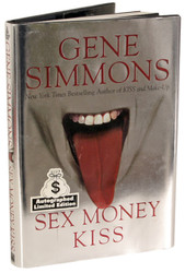 KISS Book - Gene Simmons Sex, Money, KISS - Autographed by Gene (A)