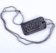 KISS Dog Tag - Alive Worldwide 1996, (pewter)