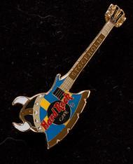 KISS Hard Rock Cafe Pin - Gene Simmons Axe Bass Stockholm