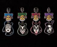 KISS Hard Rock Cafe Pins - KISS Guitars Orlando, set of 4