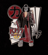 KISS Hard Rock Cafe Pin - Fukuoka , Gene with Fan