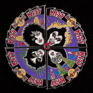 KISS Hard Rock Cafe Pin - Rock and Roll Over, puzzle pin set of 4
