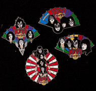 KISS Hard Rock Cafe Pin - Japanese Fans, set of 4