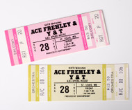Ace Frehley Unused Tickets - St Louis MO, 1987, set of 2