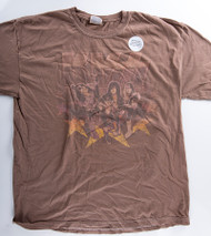 KISS T-Shirt - Farewell Over-Dyed brown (new) size XL