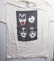 KISS T-Shirt - Dynasty Faces White (new) size 2XL