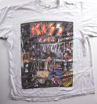 KISS T-Shirt - KISS Alive Collage Mexico (new) size L (has hole)