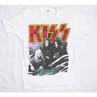KISS T-Shirt - Revenge Skulls Logo WHITE (new) size L.