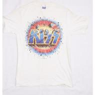 KISS T-Shirt - Asylum World Tour '85-'86 exploding logo (new) size M.