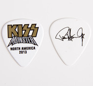 KISS Guitar Pick - Monster Gold Logo Paul