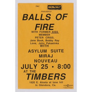 KISS Poster - Balls of Fire w/ Peter Criss July 25