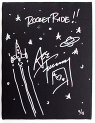 KISS Ace Frehley Autographed Rocket Ride Artwork #9/18