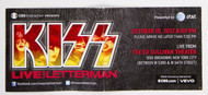 KISS David Letterman Ticket - October 10, 2012 (#246)