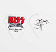 KISS Guitar Pick - Monster Red Logo, Gene 2013