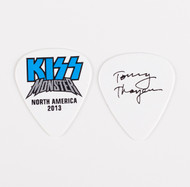 KISS Guitar Pick - Monster Blue Logo, Tommy 2013