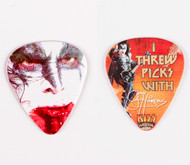 KISS Guitar Pick - I Threw Picks with Gene, KISS Kruise II, (blood)