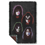 KISS Blanket - KISS Solo Faces, WOVEN THROW