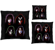 KISS Throw Pillow - KISS Solo Faces