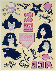 KISS Alive II Temporary Tattoo sheet, (from the CD remaster)