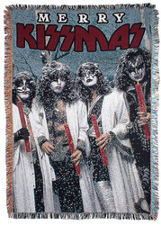 KISS Blanket - Merry KISSmas Holiday Weave