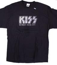 KISS T-Shirt - DRC Metal Plate Logo  (new) size L