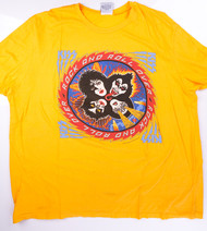 KISS T-Shirt - Rock and Roll Over YELLOW  (new) size XL