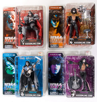 KISS McFarlane Figures - Creatures, (Unmasked) set of 4