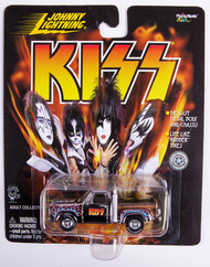 KISS Johnny Lightning Car - 1987 Dodge Truck silver, w/blue and red flames
